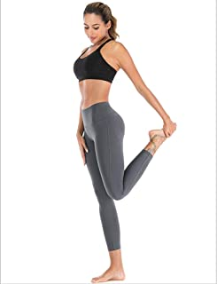 Yoga Pants Womens Leggings Gym Tight Cropped Pants Hips Breathable Perspiration Slim Anti-Static High Waist No Marks Breat...