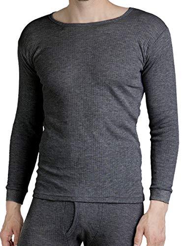 foolonli Thermohemd Herren Langarm Unterhemd Anthrazit Größe 7/XL