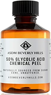 ASDM Beverly Hills Glycolic Acid Peel 50% 2Oz 60ml Medical Strength Treatment, Reduce Acne Pores, Scars, Breakouts, Sunspots, Wrinkles, Discoloration, Increase Collagen, Anti-Aging, AHA Chemical Peels