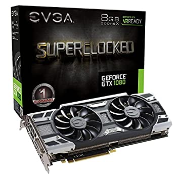 EVGA GeForce GTX 1080 SC GAMING ACX 3.0 8GB GDDR5X LED DX12 OSD Support  PXOC  Graphics Card 08G-P4-6183-KR  Renewed