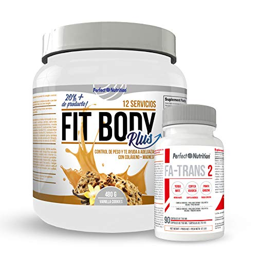 Weight Loss Pack: Meal Replacement Shakes with Protein to Lose Weight. Fat Burner with Collagen + Thermogenic Fat Burner/for Men & Women. Weight Lose (Vanilla & Cookies, 480 gr)