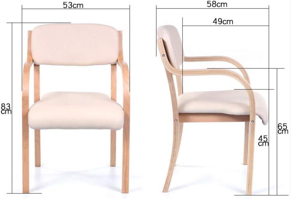 Robuste Simple chaise bureau étudiant et chaise de maquillage tabouret retour à la maison à manger chaise d'ordinateur Spacieux (Color : Khaki b) Black B