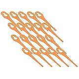 RocwooD 20 cuchillas de plástico para cortacésped Lidl Florabest, FAT 18 B2, FAT 18...