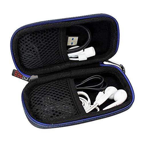 GUBEE Kopfhörer Tasche mit Schnalle,Tragbar Headset Hart Reise Case Hülle Etui für In Ear Ohrhörer,MP3 Player, iPod Nano,Daten und Ladekabel (schwarz)