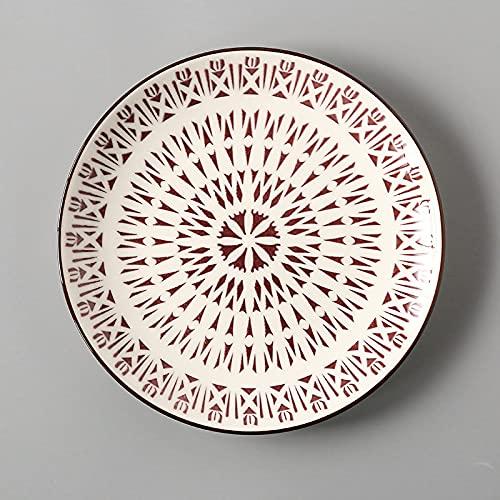 mönomöro Servicio de vajilla cuencos de cerámica, porcelana, platos de postre, platos, cuencos y vasos a elegir, 20,5 cm (4,N)