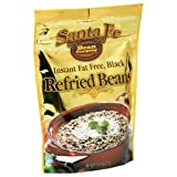 Santa Fe Bean Company Instant Fat Free Black Refried Beans 7.25-Ounce (Pack of 8) Instant Black Bean...