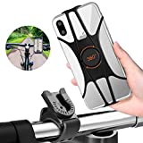 FISHOAKY Soporte Movil Bici, Porta Movil Bicicleta, 360 Rotación Desmontable Soporte Movil Bicicleta, Soporte Universal Manillar de Silicona para Bicicleta Motocicleta, para 4'-6.5' Smartphone