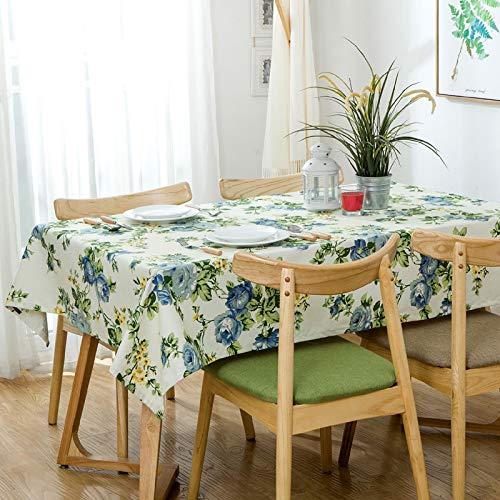 DSman fácil de Limpiar, para jardín, Habitaciones, decoración de Mesa, Estampado de algodón Floral Verde