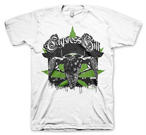Cypress Hill Offizielles Lizenzprodukt hoodlum Herren T-Shirt (Weiß), Medium