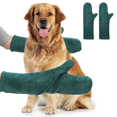 You&Lemon 2 unidades de toallas para perros, toallas de microfibra ultra absorbentes, accesorios de baño para perros, gatos y mascotas (verde)