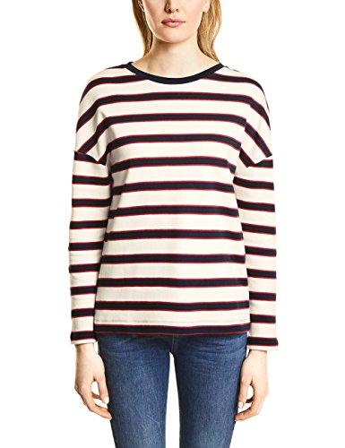 Street One Damen 300551 Sweatshirt, Mehrfarbig (Off White 30108), 42