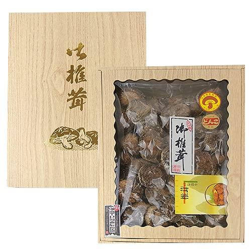 中島農場 原木で栽培 乾しいたけギフト 300g 大きさと肉の厚さ (大)