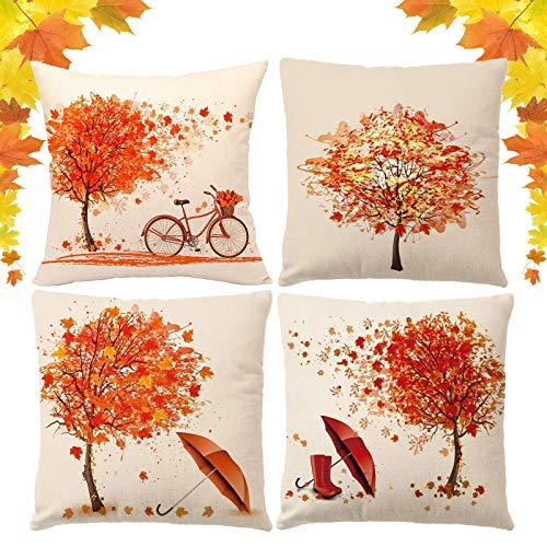 fodera cuscino divano ASANMU Federe Autunno Acero Bicicletta