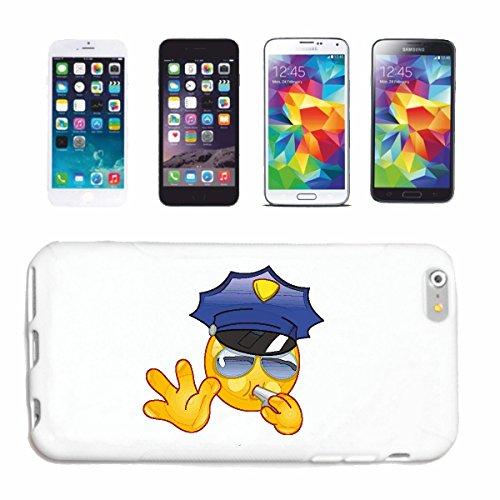 Reifen-Markt Handyhülle kompatibel für iPhone 7 Smiley BEI DER Polizei MIT Pfeife UND Sonnenbrille Smileys Smilies Android iPhone Emoticons IOS GRINSE Gesicht EMOT