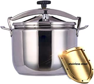 Pressure cooker stainless steel pressure cooker sealed explosion-proof safety steamer pot household gas stove large capacity 15-40L (Color : Silver, Size : 18L)