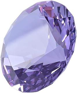 "Zoogamo 4"" / 100 mm Dark Purple Diamond Shaped Glass Crystal Paperweight – Home Office Decor & Valentine's Day Gift Weddin..."