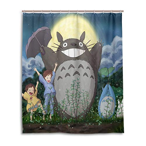 gdingxiantengsubaihuoshang Hayao Miyazaki Totoro Bad Duschvorhang Wasserdichtes Gewebe Duschvorhänge 60x72 Zoll