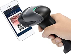 QR Barcode Scanner Eyoyo Wired Handheld 1D 2D USB CCD Barcode Reader for Mobile Payment Computer Screen Scan (Black)