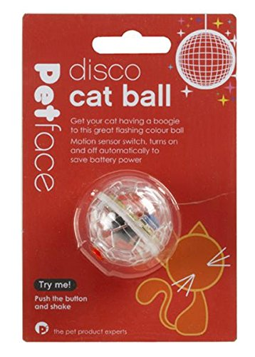 Petface Light Up Disco Ball Interactive Colour Changing C