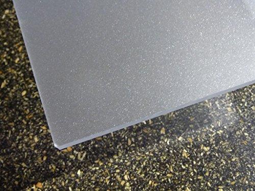 Plaque acrylique Satinice, Transparent 1000 x 500 x 3 mm Plexiglas satinées