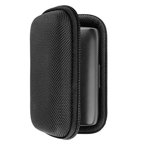 Geekria Hardshell-hoesje voor JBL Under Armour Flash In-Ear hoofdtelefoon, JBL UA Flash draadloze oordopjes hoesje met ruimte voor het opladen van snoer en onderdelen (zwart)
