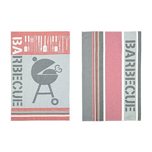 Coucke - Barbecue - Lot de 2 Torchons Multicolore Coton 50 x 75 cm