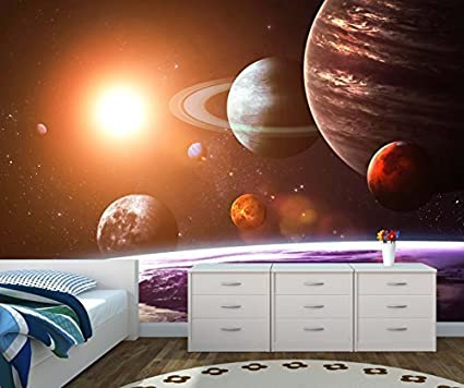 Space Galaxy Wall Mural Photo Wallpaper Solar System Large 1500mm X 1150mm Amazon Co Uk Diy Tools