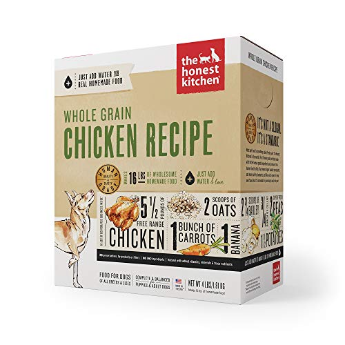 The Honest Kitchen Human Grade Dehydrated Organic Grain Chicken Dog Food 4 lb - Revel