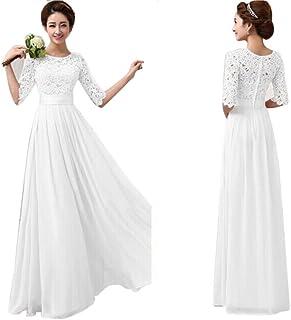 Caopixx Evening Party Dress, Women's Lace Chiffon Dress Evening Party Dresses Wedding