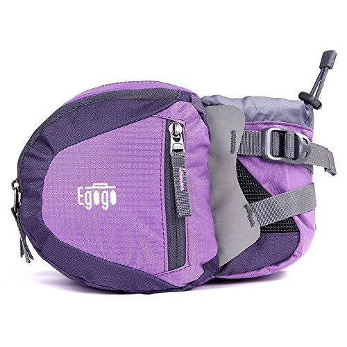 EGOGO Travel Sport Waist Pack Fanny Pack Bum Bag Hiking Bag with Water Bottle Holder...