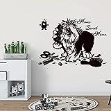 Salón de belleza para mascotas, tienda de mascotas, pegatina de pared, vinilo extraíble, adhesivo artístico para pared, Mural, papel tapiz de vinilo, póster A6 42x60cm