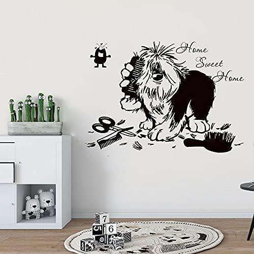 Salón de belleza para mascotas, tienda de mascotas, pegatina de pared, vinilo extraíble, adhesivo artístico para pared, Mural, papel tapiz de vinilo, póster A3 42x60cm