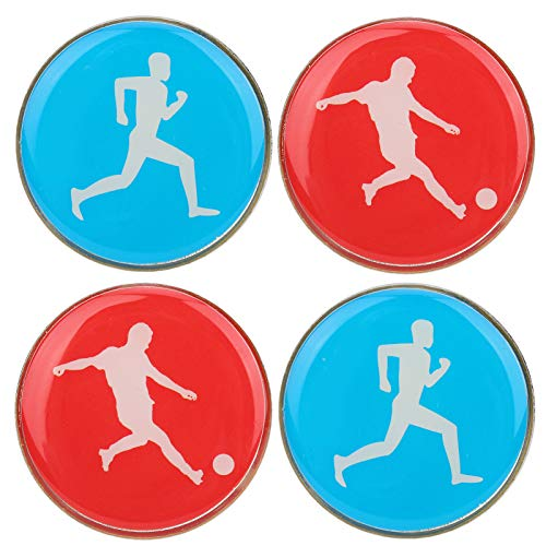 Ladieshow Two‑Sided Referee Toss Coin for Soccer Football Volleyball Table Tennis Toss Coin 4pcs