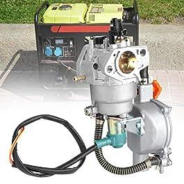 Atyhao Carburateur bicarburant de générateur de GPL CNG adapté aux Accessoires de Starter Manuel GX390 188F pièces de…