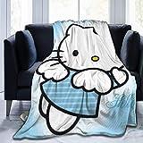 L.Fenn Manta Mantas Suaves y cálidas para Ropa de Cama Dibujos De Hello Kitty...