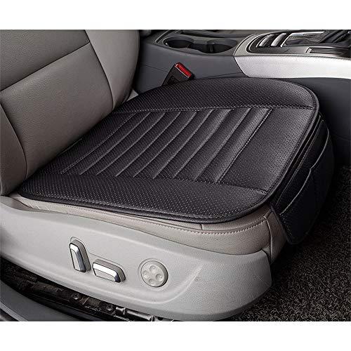 Wankd Autozitkussen, 1 stuks, PU-leer, autozitkussen, zitkussen, voorstoelen, traagschuim, pad voor autostoel, bureaustoel, zwart, 30 x 50 x 52 cm 30 * 50 * 52CM zwart