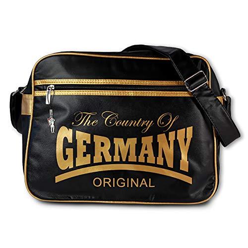 SilberDream Robin Ruth GERMANY Country Umhängetasche schwarz gold Kunststoff PVC OTG100Y Kunststoff Umhängetasche