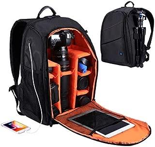Outdoor Portable Waterproof Scratch-proof Dual Shoulders Backpack Camera Accessories Bag Digital DSLR Photo Video Bag -Black