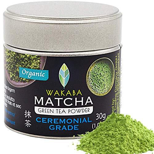 WAKABA-Matcha Pulver Bio 30g [Ceremonial] - Hergestellt vom Matcha Café Wakaba - Echter Bio-Matcha (DE-ÖKO-013) - Ohne Zusätze,vegan,rein natürlich - Perfekt für [Pure Matcha]