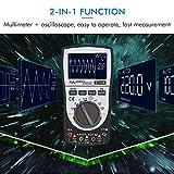 Osciloscopio digital inteligente 2 en 1,Multímetro prueba para voltaje y de corriente CC/CA,4000 cuentas 20KHz Ancho de banda analógico 200Ksps Velocidad máxima de muestreo en tiempo real