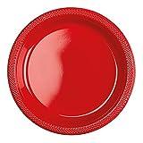 Amscan International–552285–40de plástico, Apple rojo, 22,8cm)