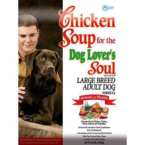 Chicken Soup For The Dog Lover'S Soul Dry Dog Food For Adult Dog, Large Breed Chicken Flavor, 35 Pound Bag