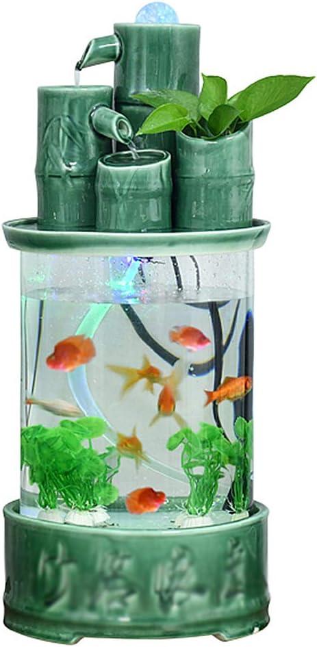 XLSQW Acrylic Waterfall Fish Tank Max 40% OFF Top Max 73% OFF Aquarium Table Aq Cylinder