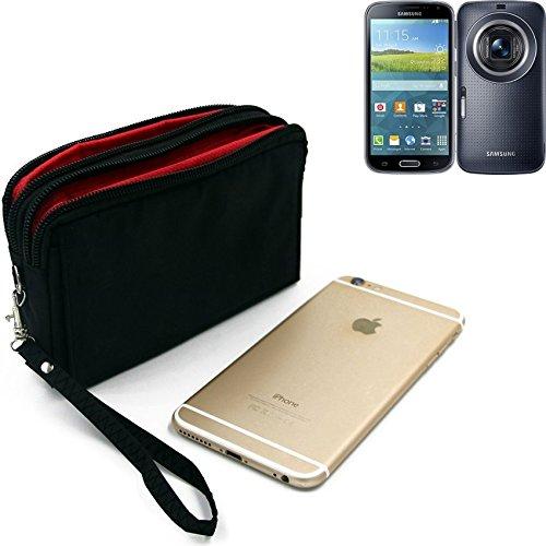 K-S-Trade Für Samsung Galaxy K Zoom 3G Gürteltasche Schwarz Travel Bag, Travel-Hülle Mit Diebstahlschutz Praktische Schutz-Hülle Schutz Tasche Holster Outdoor-case Für Samsung Galaxy K Zoom 3G