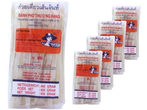 Farmer - 10mm breite Asia Nudeln - 5er Pack (5 x 400g) - Thai Reisnudeln