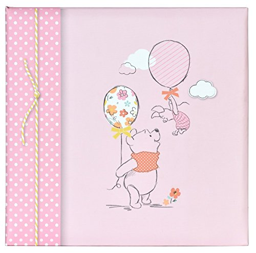 Winnie the Pooh & Piglet mit Luftballons in Pink Colour Book Bound Typ Memo album-6X 10,2cm Größe/200Fotos