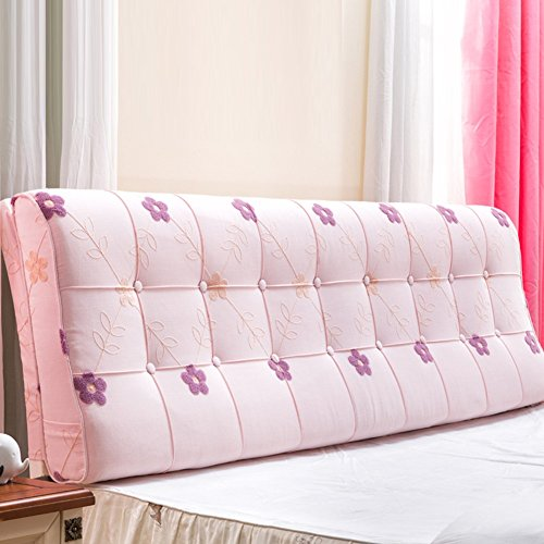YSDHE Doppelbett Kopfteil Bedside Kissen Pads Druck Bestickte Waschbar Schlafzimmer Sofa Fashion Einfache Kopfteil Kissen Pad, 4 Farben, 6 Größen (Color : 1#, Size : 120 * 60 * 12cm)