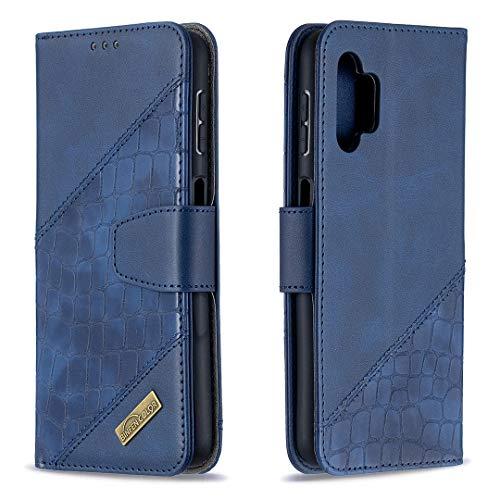 Coque pour Galaxy A32 5G Housse, Etui en Cuir PU Portefeuille Coque avec Fente Carte, Fermeture Magnétique und Flip Béquille pour Samsung Galaxy A32 5G - JEBF060621 Bleu