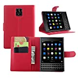Tasche für BlackBerry Passport (Q30) Hülle, Ycloud PU Ledertasche Flip Cover Wallet Hülle Handyhülle mit Stand Function Credit Card Slots Bookstyle Purse Design rote