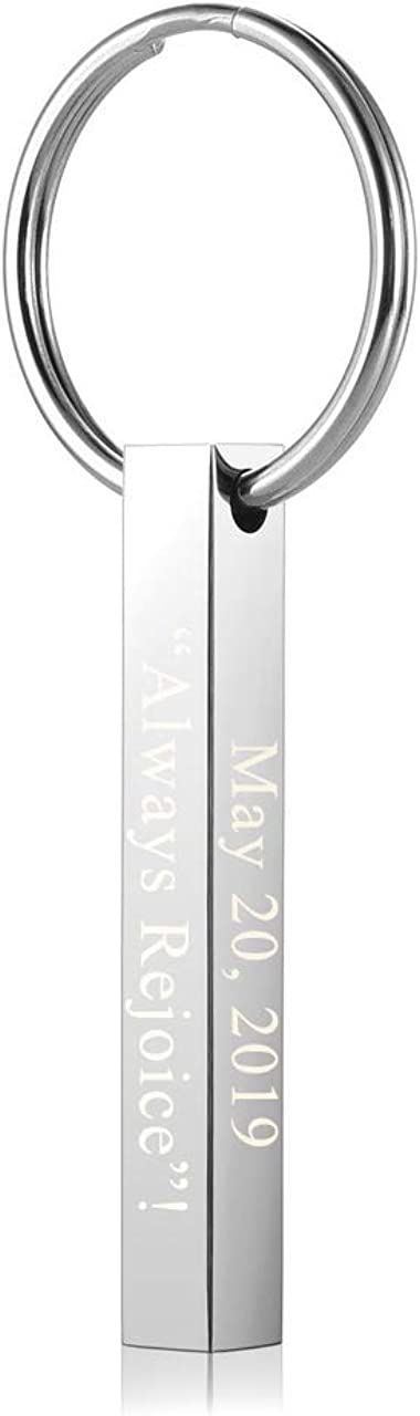 PiercingJ Custom Max 48% OFF Message Engrave Name Vertical Cuboid Ba Initial Max 59% OFF